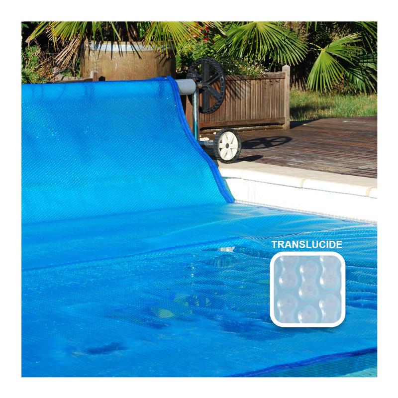 Bache a bulle sur mesure Sol+ Guard - 500 microns Duobul - Bordée 4 côtés - Translucide