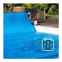 Bache a bulle sur mesure Solibul - 500 microns Duobul - Bordée 4 côtés - Bleu nuit - Vendu au m²