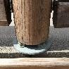 Platine de fixation pour poteau de barrière piscine bois