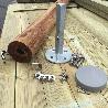 Kit fixation poteau pour barrière de piscine bois