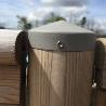 Portillon pour barrière piscine bois Natural couleur gris anthracite
