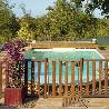 Barrière piscine bois pin couleur naturel