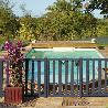 Barrière piscine bois pin couleur gris anthracite