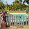 Barrière piscine bois pin couleur gris vieux bois