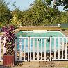 Barrière piscine bois pin couleur blanc
