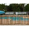 Barrière piscine bois