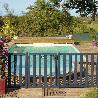 Barriere piscine bois Natural couleur gris anthracite