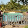 Barriere piscine bois Natural couleur gris vieux bois