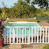 Barriere piscine bois Natural couleur blanc