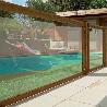 Barrière piscine bois et plexiglas transparent Visual