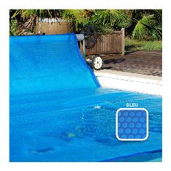 Bache a bulle sur mesure 500 microns - Bleu - Bordée 4 côtés - Vendu au m²